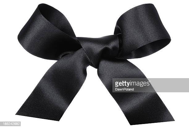 big black bow - tied bow stock pictures, royalty-free photos & images