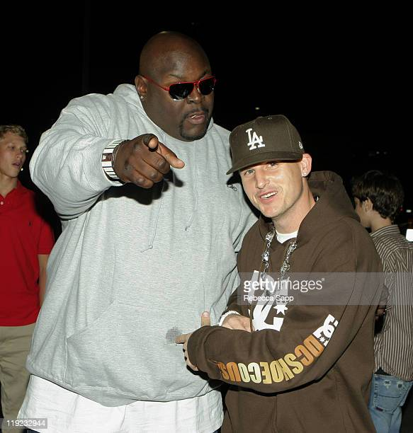 Big Black Christopher Boykin and Rob Dyrdek during Inaugural Arby's Action Sports Awards Red Carpet and Show at Center Staging in Burbank California...