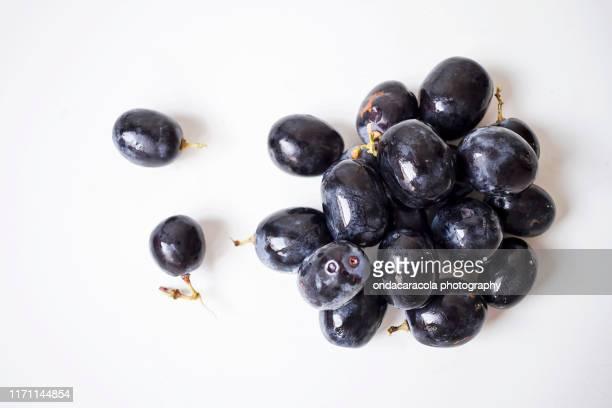 big black grapes - cabernet sauvignon grape - fotografias e filmes do acervo