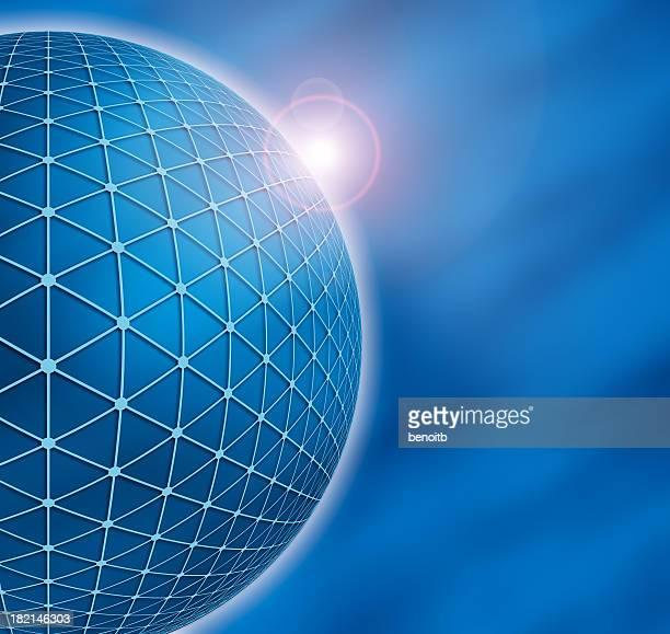 Big Blue Globe with Glow
