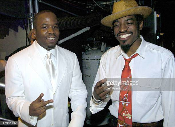 Big Boi and Andre 3000 from OutKast during Nickelodeon's 17th Annual Kids' Choice Awards Backstage at Pauley Pavillion in Westwood California United...