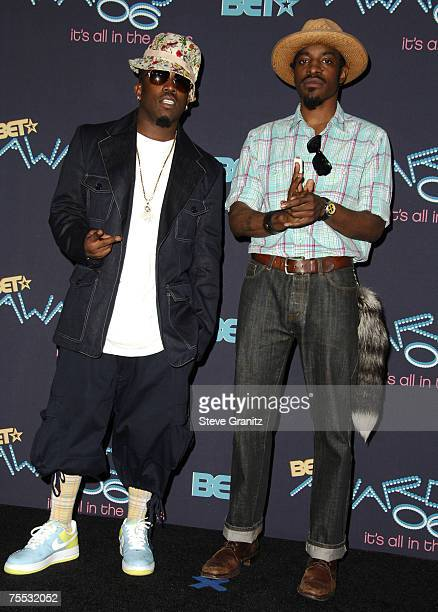 Big Boi and Andre 3000 of OutKast at the Shrine Auditorium in Los Angeles CA