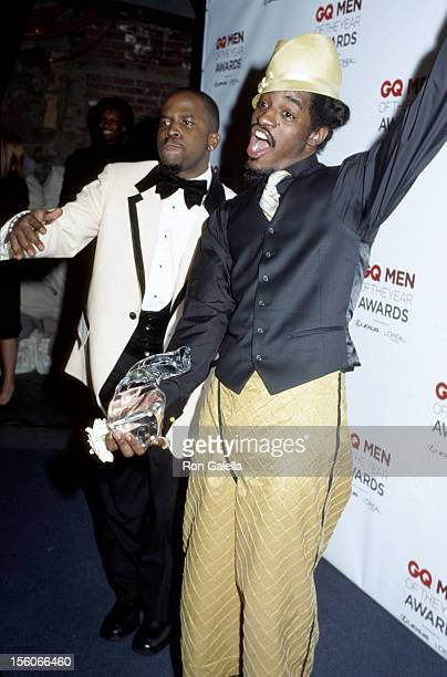 Big Boi and Andre 3000 of OutKast during 2002 GQ Men of the Year Awards Arrivals at Hammerstein Ballroom in New York City New York United States