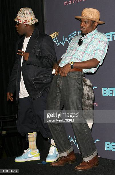 Big Boi and Andre 3000 of OutKast during 2006 BET Awards Press Room at The Shrine in Los Angeles California United States