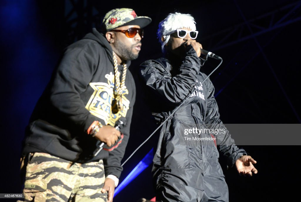 Big Boi (L) and Andre 3000 of Outkast perform during the Pemberton Music and Arts Festival on July 20, 2014 in Pemberton, British Columbia.