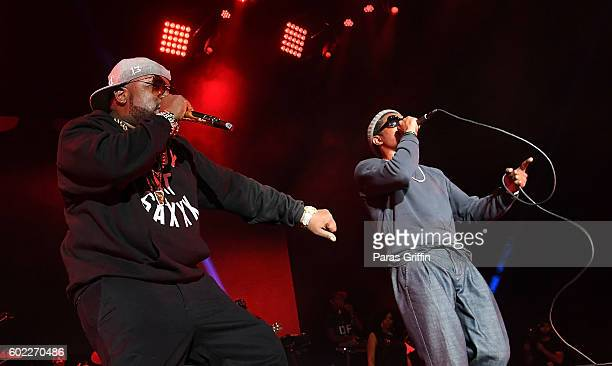 Big Boi and Andre 3000 of Outkast perform onstage at 2016 ONE Musicfest at Lakewood Amphitheatre on September 10 2016 in Atlanta Georgia