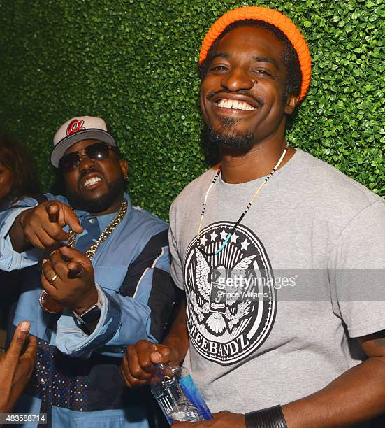 Big Boi and Andre 3000 of the group Outkast attend Future Album Release Party at Gold Room on July 30 2015 in Atlanta Georgia