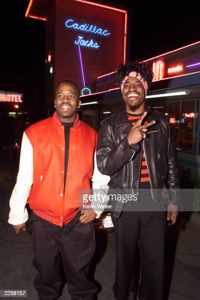 Big Boi and Andre of OutKast on the set of their video shoot for a song which will be featured in the movie ScoobyDoo 4/28/02 Los Angeles CA photo by...