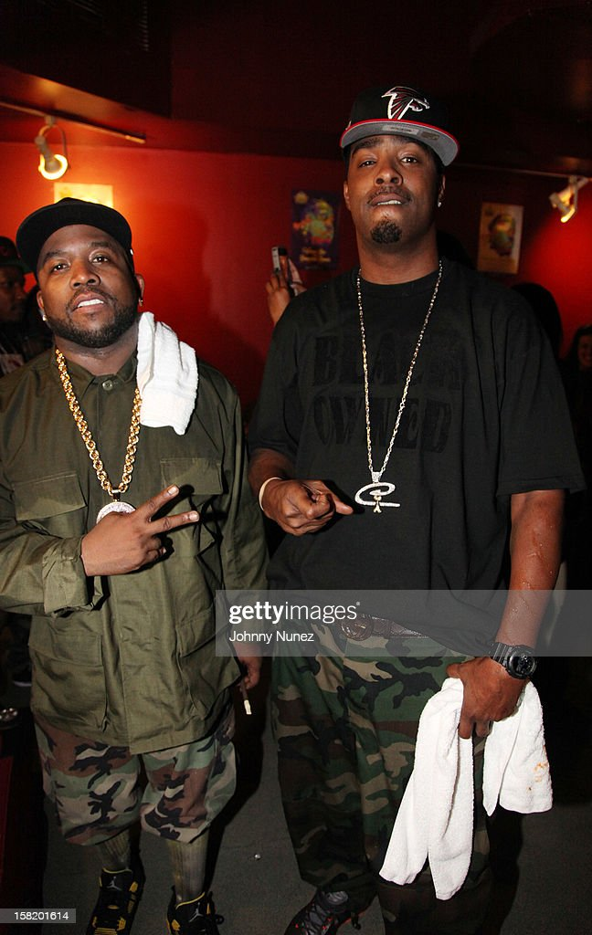 Big Boi and BlackOwned C-Bone attend Big Boi's Album Release Party at S.O.B.'s on December 10, 2012 in New York City.