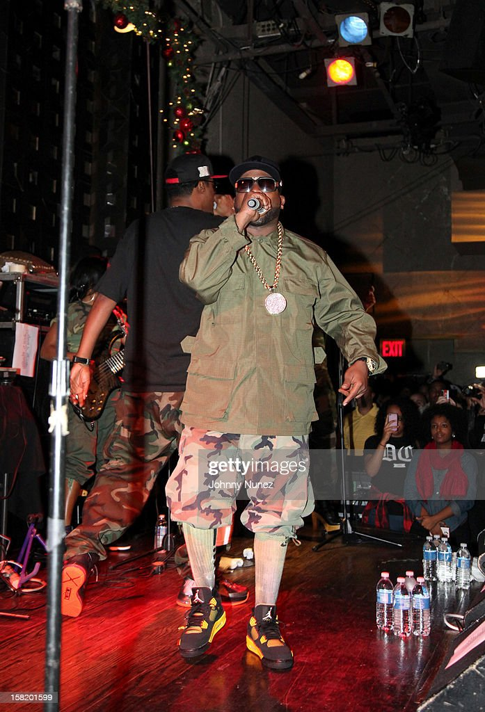 Big Boi (r) and BlackOwned C-Bone perform at Big Boi's Album Release Party at S.O.B.'s on December 10, 2012 in New York City.