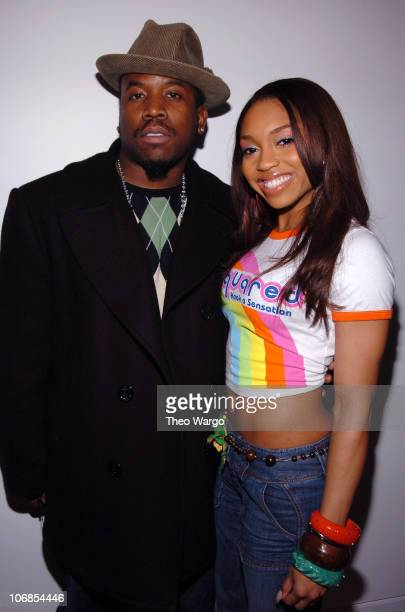 Big Boi and Brooke Valentine during Ashton Kutcher Michelle Trachtenberg Brooke Valentine and Big Boi Visit MTV's TRL March 15 2005 at MTV Studios...