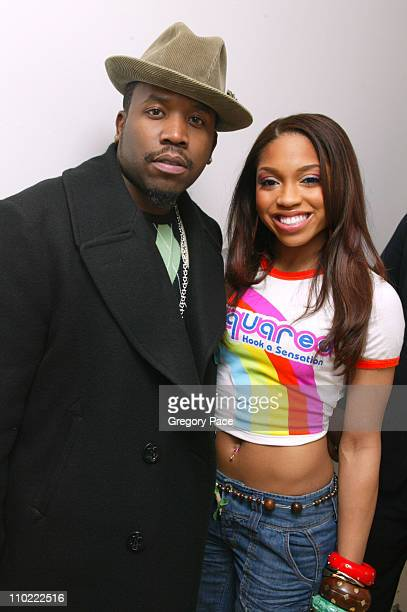 Big Boi and Brooke Valentine during Ashton Kutcher Michelle Trachtenberg Brooke Valentine and Big Boi Visit MTV's TRL March 15 2005 at MTV Studios in...