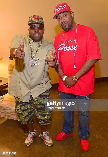 Big Boi and Bun B backstage at The Fox Theatre on July 25 2015 in Atlanta Georgia
