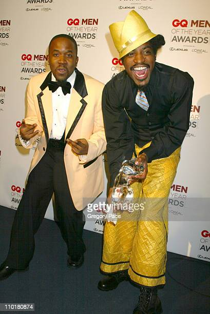 Big Boi and Dre 3000 of Outkast during 2002 GQ Men of the Year Awards at Hammerstein Ballroom in New York City New York United States