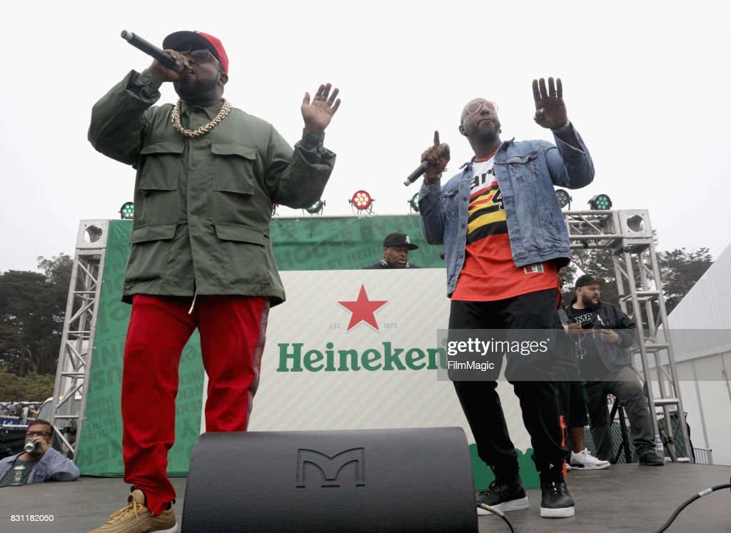 Big Boi (L) and Sleepy Brown perform outside The House by Heineken tent during & 2017 Outside Lands Music And Arts Festival - The House By Heineken ...