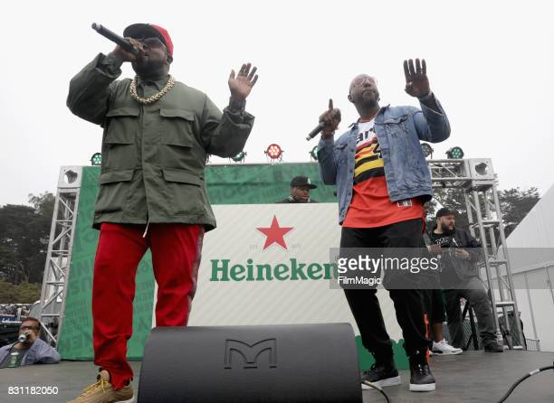 Big Boi and Sleepy Brown perform outside The House by Heineken tent during the 2017 Outside Lands Music And Arts Festival at Golden Gate Park on...