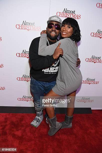 "Big Boi and Towanda Braxton attend ""Almost Christmas"" Atlanta screening at Regal Cinemas Atlantic Station Stadium 16 on October 26, 2016 in Atlanta,..."