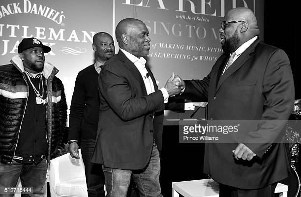 Big Boi Big Tigger LA Reid and Reggie Rouse attend a conversation with LA Reid at SCADshow on February 24 2016 in Atlanta Georgia