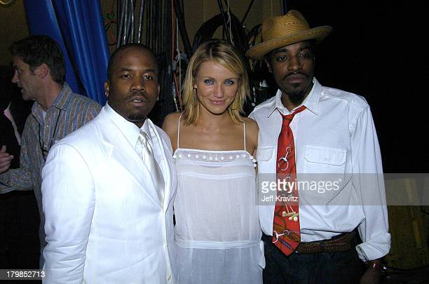 Big Boi Cameron Diaz and Andre 3000 during Nickelodeon's 17th Annual Kids' Choice Awards Backstage at Pauley Pavillion in Westwood California United...