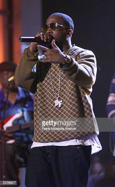 Big Boi of Outkast rehearses before the 44th Annual Grammy Awards at the Staples Center in Los Angeles Ca Feb 24 2002