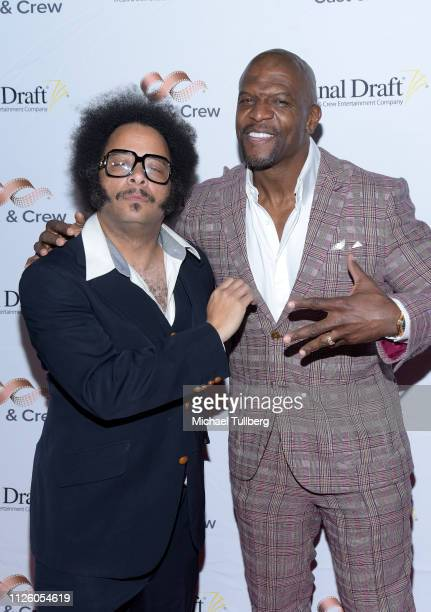 Big Break Winner Boots Riley and Terry Crews attend the 14th annual Final Draft Awards at Paramount Theatre on January 29 2019 in Hollywood California