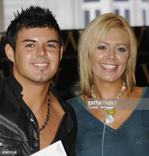 Big Brother 2005 winner Anthony Hutton with housemate Orlaith McAllister during a photocall and signing for the book Big Brother Access All Areas...