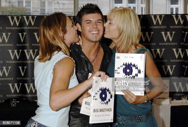 Big Brother 2005 winner Anthony Hutton with housemates Orlaith McAllister and Sam Heuston during a photocall and signing for the book Big Brother...