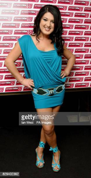 Big Brother 5 winner Nadia Almada backstage during the Smash Hits T4 Poll Winners party 2004 at Wembley Arena in north London