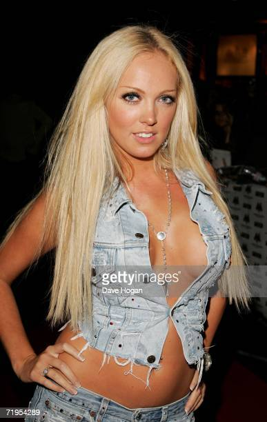 Big Brother 7 contestant Aisleyne HorganWallace arrives at the MOBO Awards 2006 at The Royal Albert Hall on September 20 2006 in London England
