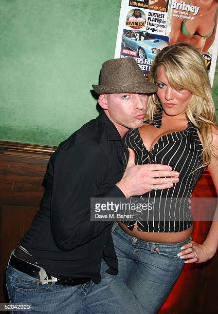 Big Brother contestant Dan Bryan and guest attend the 1st Birthday party for Nuts Magazine at Trap Wardour Street on January 20 2005 in London