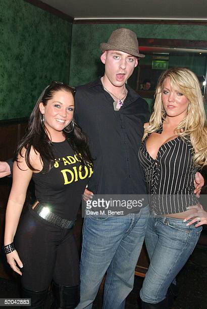 Big Brother contestant Dan Bryan and guests attend the 1st Birthday party for Nuts Magazine at Trap Wardour Street on January 20 2005 in London