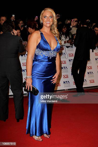 Big Brother contestant Josie Gibson attends the The National Television Awards at the O2 Arena on January 26 2011 in London England