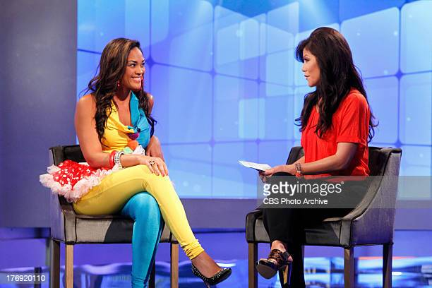 Big Brother Host Julie Chen interviews Candice Stewart following her eviction on BIG BROTHER Thursday August 8 on the CBS Television Network