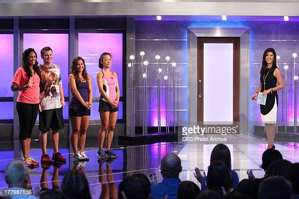 Big Brother Jurors Candice Judd Jessie and Helen with Host Julie Chen on BIG BROTHER Thursday August 22 on the CBS Television Network
