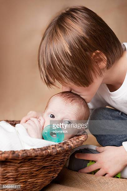 Big Brother Kissing Baby Brother