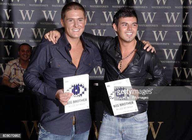 Big Brother winner Anthony Hutton with housemate Craig Coates during a photocall and signing for the book Big Brother Access All Areas Thursday 25...
