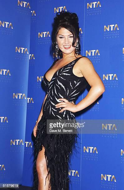 'Big Brother' winner Nadia Almada poses in the Awards Room at the 10th Anniversary National Television Awards at the Royal Albert Hall on October 26...