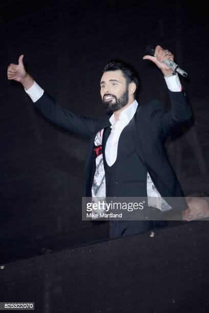 'Big Brother's Bit On The Side' presenter Rylan Clark attends the Celebrity Big Brother launch at Elstree Studios on August 1 2017 in Borehamwood...