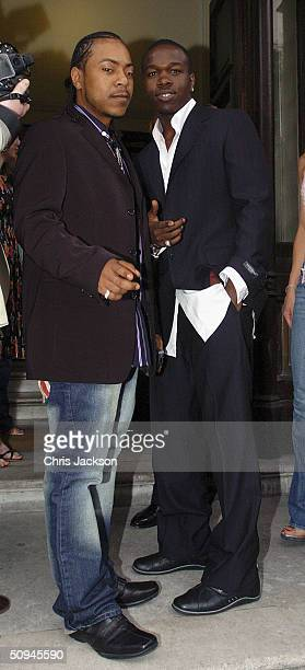 Big Brovaz attend fashion label Marchpole's party to showcase spring/summer 2005 YSL Homme Ozwald Boateng and Jean Charles de Castelbajac collections...