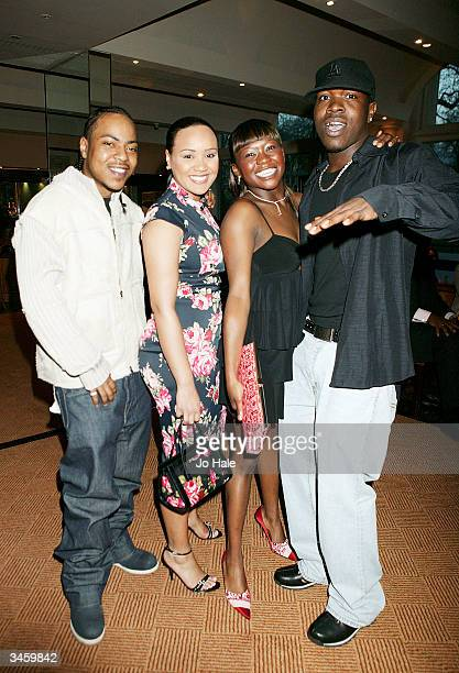 Big Brovaz attend the aftershow party for the launch of the 7th NatWest EMMA Awards on April 22 2004 at La Terrazza Grosvenor House Hotel in London...