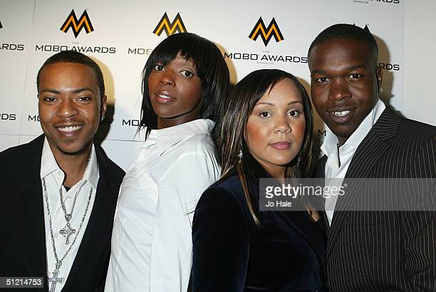 Big Brovaz attends the nominations launch for the MOBO Awards 2004 at Tantra on August 24 2004 in London The party sees the nominees announced for...