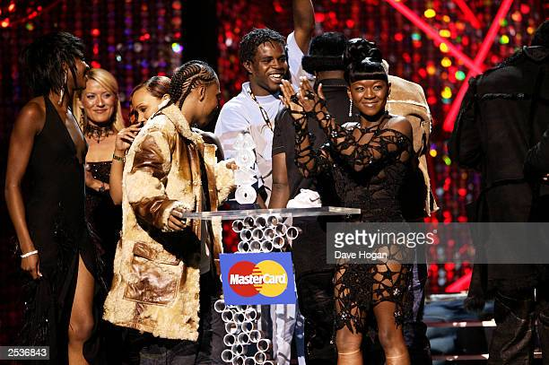 Big Brovaz on stage at the Mastercard MOBO Awards 2003 at the Royal Albert Hall on September 25 2003 in London