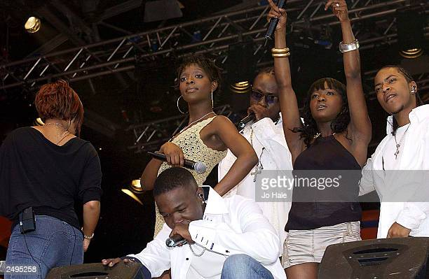 Big Brovaz perform live on stage at the CBBC Proms in Hyde Park on September 14 2003 in London