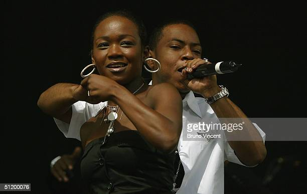 Big Brovaz perform on stage on the first day of the annual rock and pop V Festival at Hylands Park Chelmsford on August 21 2004 in Essex England The...