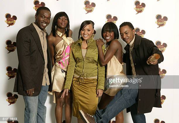 Big Brovaz pose in the awards room at the Disney Channel Kids Awards 2004 at the Royal Albert Hall on September 16 2004 in London The annual...