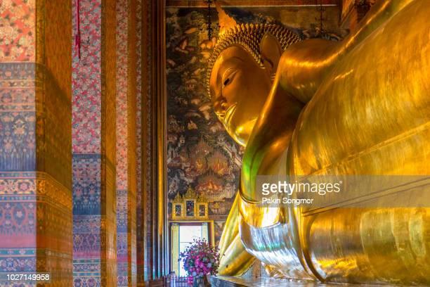big buddha at wat pho, bangkok, thailand - wat pho stock pictures, royalty-free photos & images