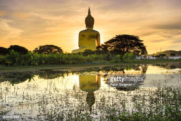 big buddha in wat muang - wat stock pictures, royalty-free photos & images