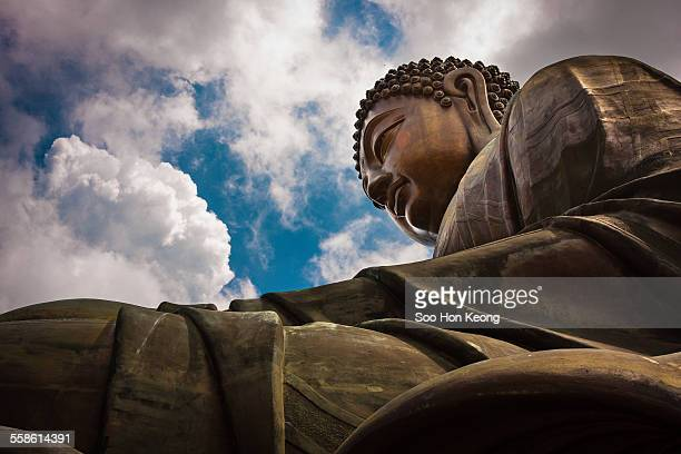 big buddha or tian tan buddha of hong kong - lantau stock pictures, royalty-free photos & images