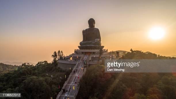 big buddha - lantau stock pictures, royalty-free photos & images