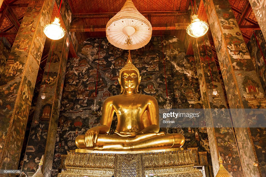Big buddha statue beautiful in the church : Stock Photo